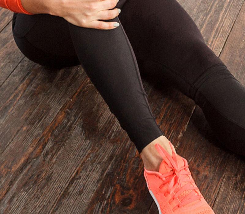 Rubbing sore legs