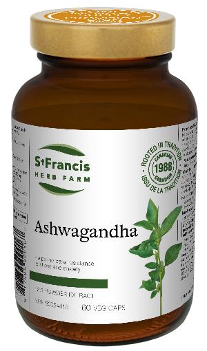 Ashwagandha Capsules - By St. Francis Herb Farm