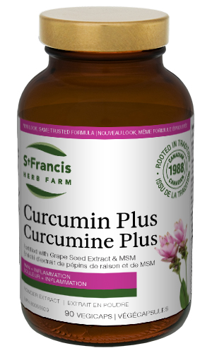 Curcumin Plus Capsules - By St. Francis Herb Farm