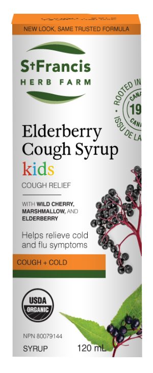 Elderberry Cough Syrup Kids - By St. Francis Herb Farm