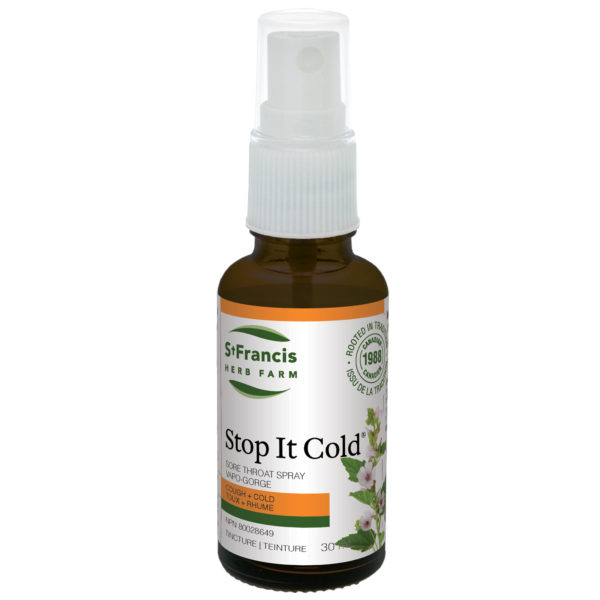 Stop It Cold® (Throat Spray) - By St. Francis Herb Farm