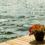 Dock overlooking lake