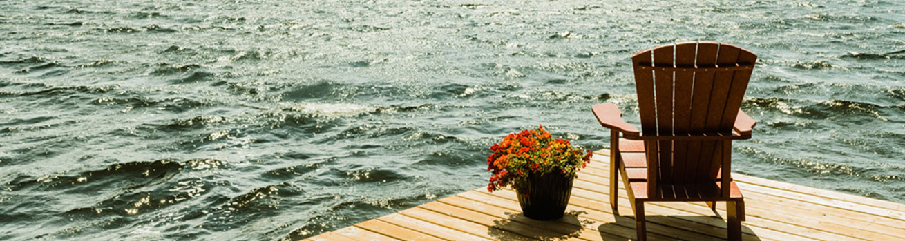 Dock overlooking lake