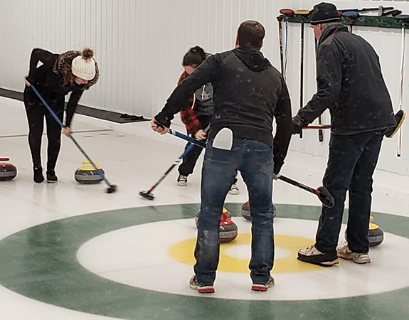 Team Building at St Francis Herb Farm Curling event