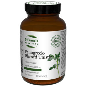 Fenugreek-Blessed Thistle Capsules by St Francis Herb Farm