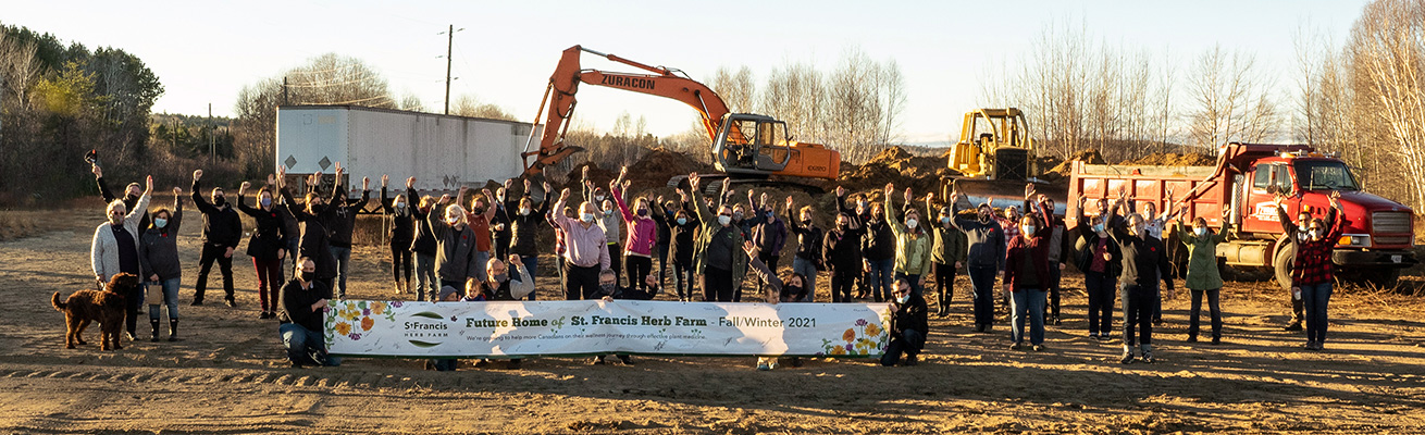Breaking Ground at the New St Francis Herb Farm Facility