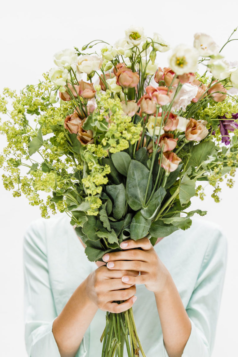 Bouquet of flowers that cause allergies