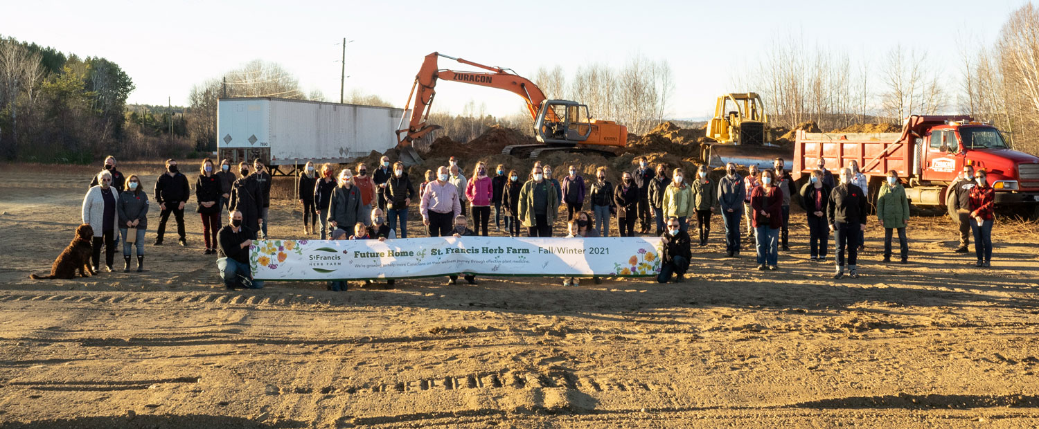 Ground-breaking at the new St. Francis Herb Farm Facility